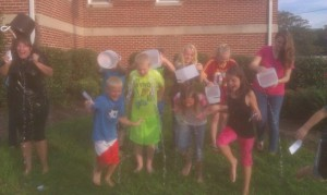 Kids-Wythe- A- Mission accepted the ALS ice bucket challenge from Higher Ground Youth Group!