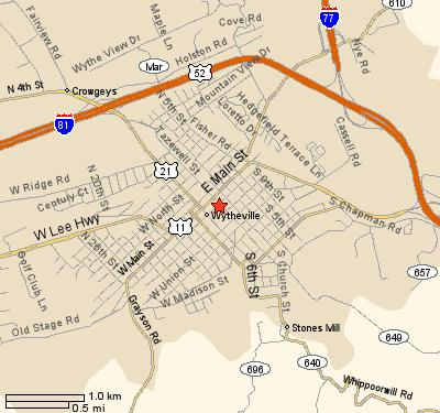 Maps/Directions | Wytheville Baptist Church